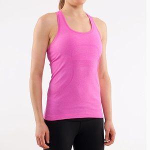 lululemon athletica Tops - Lululemon Swiftly Pink Racerback Size 8